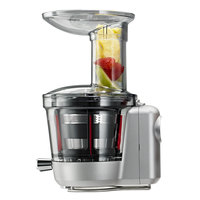 KitchenAid KSM1JA Continuous Feed Slow Juicer and Sauce Attachment