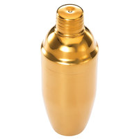 Mercer Culinary M37039GD Barfly 24 oz. 3-Piece Gold Plated Japanese Style Shaker Set
