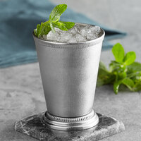 Barfly M37032 12 oz. Stainless Steel Mint Julep Cup with Beaded Trim