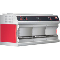 Hatco TFWM36-3900 Red Stainless Steel Wall Mounted Food Finisher with Three Top Heating Elements - 208V, 3 Phase