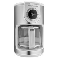 KitchenAid KCM1202WH White 12 Cup Automatic Coffee Maker - 120V