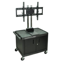 Luxor / H. Wilson WPTV28CE Tuffy Flat Panel TV Cart with Security Cabinet for 32 inch to 60 inch Screens