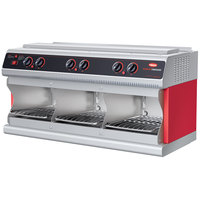 Hatco TFWM36-3939 Red Wall Mounted Food Finisher with Three Top and Three Bottom Heating Elements - 208V, 3 Phase