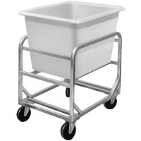 Channel 8SBC Mobile Stainless Steel Lug Rack with 8 Bushel Poly Bin