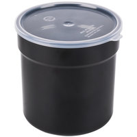 Carlisle 037203 2.7 Qt. Black Supreme Crock with Lid