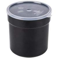 Carlisle 037203 2.7 Qt. Black Supreme Crock with Lid - 6 / Case