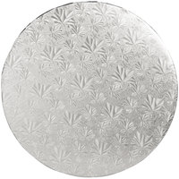 Enjay 1/2-14RS12 14 inch Fold-Under 1/2 inch Thick Silver Round Cake Drum