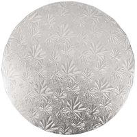 Enjay 1/2-10RS12 10 inch Fold-Under 1/2 inch Thick Silver Round Cake Drum