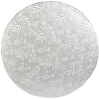 Enjay 1/2-12RS12 12 inch Fold-Under 1/2 inch Thick Silver Round Cake Drum