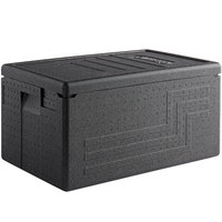 Cambro EPP180SW110 Cam GoBox® Black Full Size Top Loader Insulated Food Pan Carrier - 23 9/16 inch x 15 11/16 inch x 12 3/8 inch