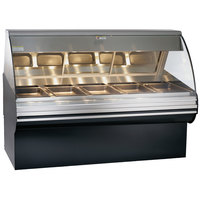 Alto-Shaam HN2SYS-72/P S/S Stainless Steel Heated Display Case with Curved Glass and Base - Self Service 72 inch