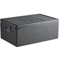 Cambro EPP160SW110 Cam GoBox® Black Full Size Top Loader Insulated Food Pan Carrier - 23 9/16 inch x 15 11/16 inch x 10 inch