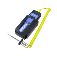 Cooper-Atkins 94003-K AquaTuff Waterproof Type-K Thermocouple Thermometer Kit with MicroNeedle Probe and Wall-Mount Bracket