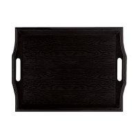 GET RST-1815-BK Plastic Room Service Tray - Black