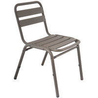BFM Seating MS0025BZ Capri Bronze Aluminum Outdoor / Indoor Side Chair