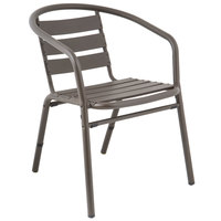 BFM Seating MS0021BZ Capri Bronze Aluminum Outdoor / Indoor Arm Chair