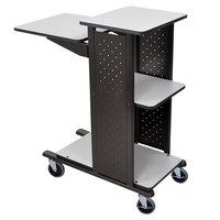 Luxor WPS4HD Heavy-Duty Presentation Station Cart - 34 1/2 inch x 18 1/4 inch x 41 inch