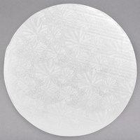 Enjay 1/4-12RW24 12 inch Fold-Under 1/4 inch Thick White Round Cake Drum