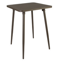 BFM Seating PH4L3636BZT Fresco 36 inch Square Bar Height Table with Solid Aluminum Top and Bronze Powder Coat