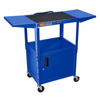 Luxor AVJ42CDL-RB Blue Computer Cart with Locking Cabinet
