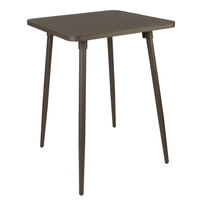 BFM Seating PH4L3232BZT Fresco 32 inch Square Bar Height Table with Solid Aluminum Top and Bronze Powder Coat