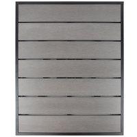 BFM Seating PH3030GRTK-BLU Seaside 30 inch Square Black Aluminum Outdoor / Indoor Table Top - Synthetic Teak