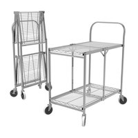 Luxor WSCC-2 2 Shelf Collapsible Wire Utility Cart