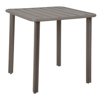 BFM Seating DVV3636ERU Vista 36 inch x 36 inch Earth Aluminum Outdoor / Indoor Standard Height Table with Umbrella Hole