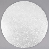 Enjay 1/2-10RW12 10 inch Fold-Under 1/2 inch Thick White Round Cake Drum