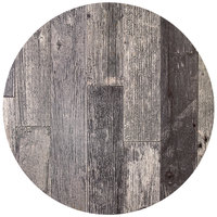 BFM Seating RG36R SoHo 36 inch Rustic Gray Round Indoor / Outdoor Tabletop