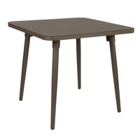 BFM Seating PH4L3636BZ Fresco 36 inch Square Table with Solid Aluminum Top and Bronze Powder Coat