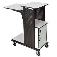 Luxor WPS4HDC Heavy-Duty Presentation Station Cart with Locking Cabinet - 34 1/2 inch x 18 1/4 inch x 41 inch