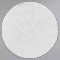 Enjay 1/4-10RW24 10 inch Fold-Under 1/4 inch Thick White Round Cake Drum