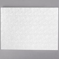 Enjay 1/2-1331834W12 18 3/4 inch x 13 3/4 inch Fold-Under 1/2 inch Thick 1/2 Sheet White Cake Board