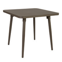 BFM Seating PH4L3232BZ Fresco 32 inch Square Table with Solid Aluminum Top and Bronze Powder Coat