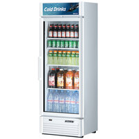 Turbo Air TGM-15SD White 26 inch Super Deluxe Single Door Refrigerated Merchandiser - 15.9 Cu. Ft.