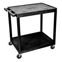 Luxor HE38-B Black 2 Shelf Utility Cart