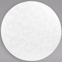 Enjay 1/2-12RW12 12 inch Fold-Under 1/2 inch Thick White Round Cake Drum