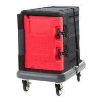 Metro Mightylite Front Loading Full Size Insulated Pan Carrier Kit with 6 Pan Carrier and Dolly