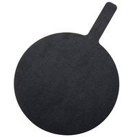 American Metalcraft MPB1217 12 inch Round Pressed Wood Black Pizza Peel with 5 inch Handle
