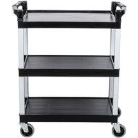 Continental 5810BK 16 inch x 31 inch x 36 inch Black Three Shelf Utility Cart