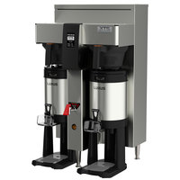 Fetco CBS-2142XTS E214251 XTS Series Stainless Steel Double Automatic Coffee Brewer - 240V, 4200-6100W