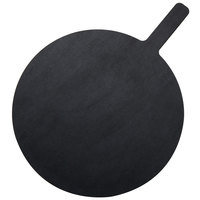 American Metalcraft MPB1520 15 inch Round Pressed Wood Black Pizza Peel with 5 inch Handle