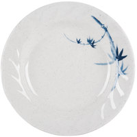 Thunder Group 1207BB Blue Bamboo 7 inch Round Melamine Curved Rim Plate - 12/Pack