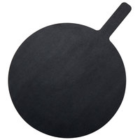American Metalcraft MPB1419 14 inch Round Pressed Wood Black Pizza Peel with 5 inch Handle