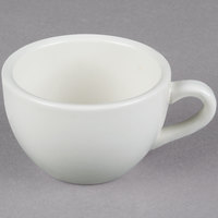 Core 7 oz. Ivory (American White) Rolled Edge China Coffee Cup / Mug   - 36/Case