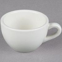 Core 7 oz. Ivory (American White) Rolled Edge China Coffee Cup / Mug   - 36/Case