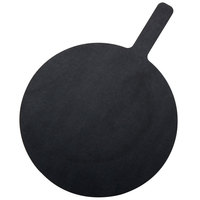 American Metalcraft MPB1318 13 inch Round Pressed Wood Black Pizza Peel with 5 inch Handle