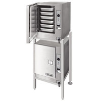 Cleveland (2) 22CET6.1 SteamChef 6 Double Deck 12 Pan Electric Floor Steamer - 208V, 3 Phase, 24 kW