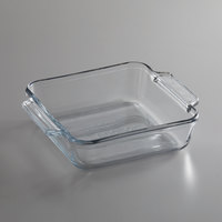 Anchor Hocking 81934AHG18 Premium 8 inch Clear Glass Square Baking Dish   - 3/Case
